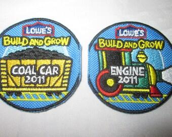 Patch Badge 2011 Train ENGINE COAL Car Steam Locomotive  Lowes Build Grow Clinic