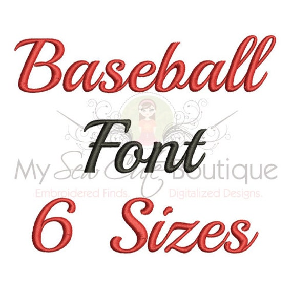 Baseball embroidery fonts machine designs monogram for Embroidery office design version 9