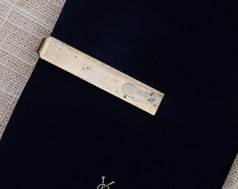 Gold Bar Tie Clip Vintage Solid Plain Simple Men's Accessories Add On 7WW