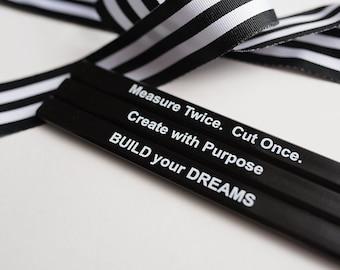Pencil Set, Carpenter Pencil, Gift for Creative, Pencils under 5, Builder Thank you, Housewarming, Dream House, Unisex Gift, Handmaker