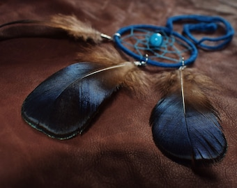 DreamCatcher Agate and pheasant feathers