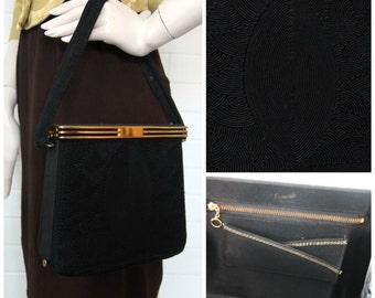 Vintage 1940s Corded Handbag Purse