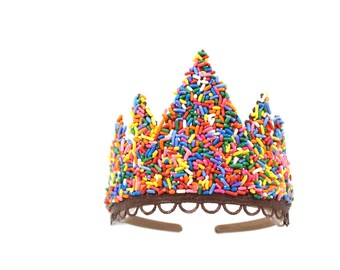 """NEW Donut SPRINKLES """"Sevyn""""  lace tiara 