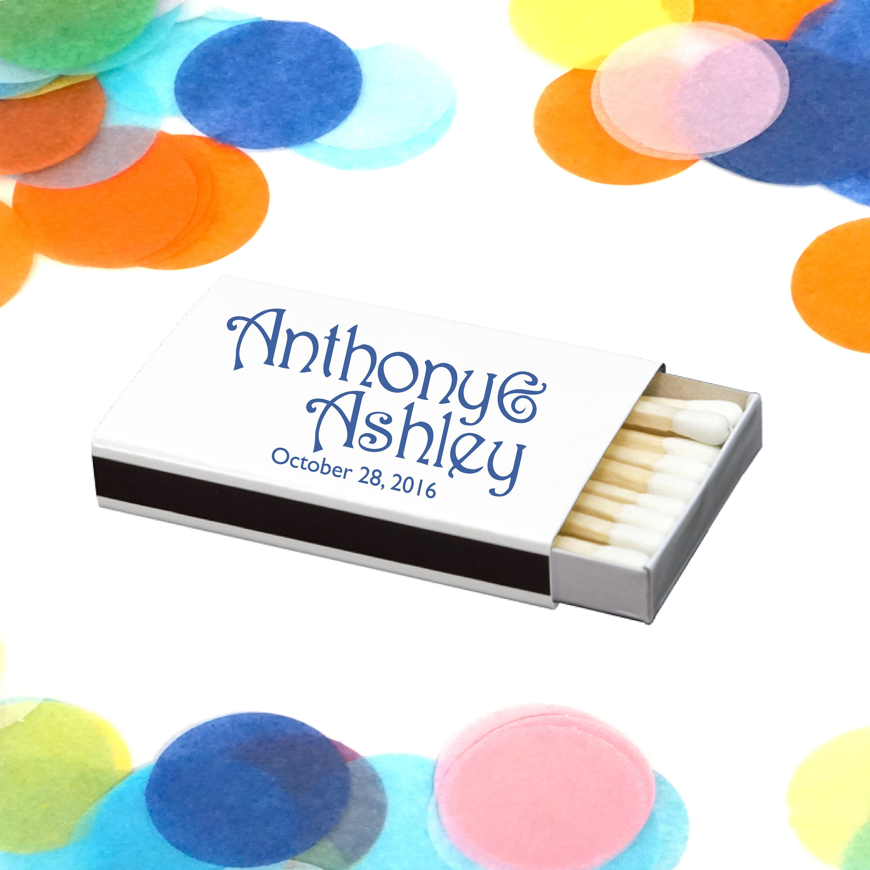 Personalized Matches Wedding Favor Custom Matchbox for