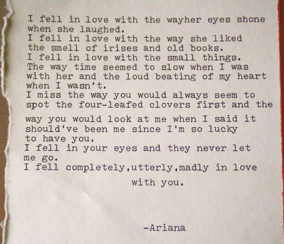 Romantic Places Renew Wedding Vows: Love Poem Original Poetry Wedding Vows Art Print Love Letter