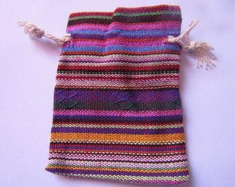 gift pouch, fabrics, cotton, multicolored, 8cmx7cm