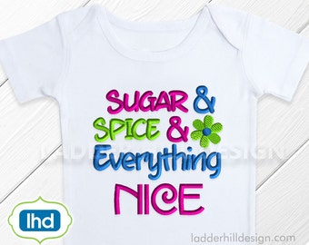 Sugar and Spice and Everything Nice -- Little Girl's Embroidery Design -- No. SA008