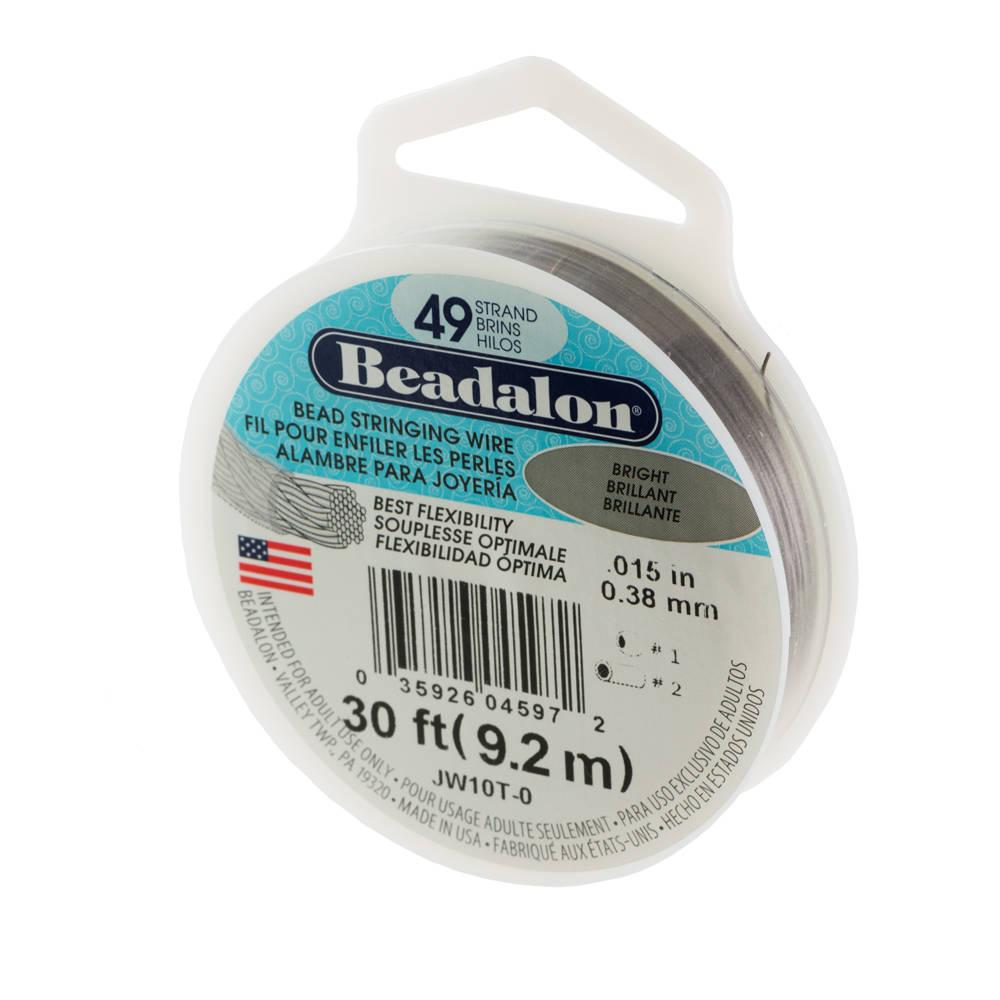 Beadalon 49 Strand Bright Wire .38mm Diameter/30ft Spool