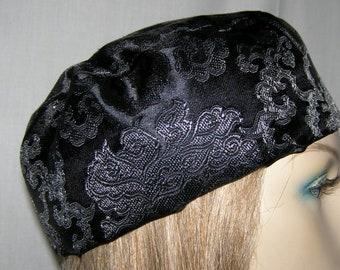 Kippah Head Covering | SATIN BROCADE BUCHARIAN Kippah Headcovering | Jewish | Bar Mitzvah | Yarmulke | Kippot | Wedding Kipah | Yarmulkas