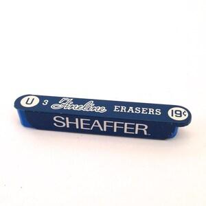 Vintage Sheaffer Fineline Erasers - W.A. Sheaffer Pen Co. - Vintage Advertising - Vintage Container - Blue Erasers