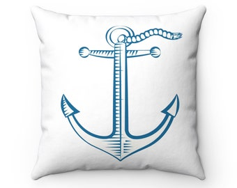 Nautical themd pillow, beachouse pillow, beach house decor