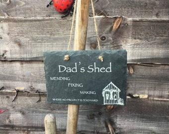 Slate Garden Shed Sign, can be personalised