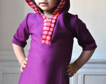 My hoodie dress - Instant download- PDF pattern- 18m to 5T- Easy sewing