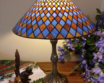 "16"" Tiffany lamp net design (SE2-blue brown)"