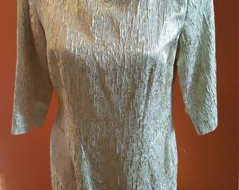 Fantastic Gold Brocade Vintage Dress by Harold's