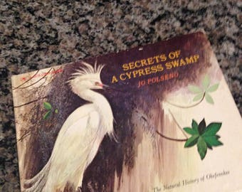 1976 Golden Book Secrets of a Cypress Swamp by Jo Polseno