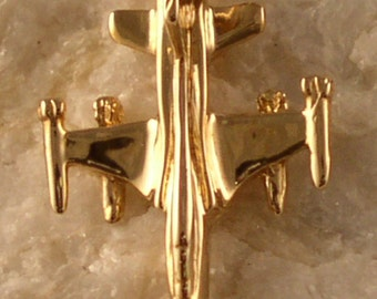 14kt or Silver F-5 Tiger II Jet Airplane Pendant