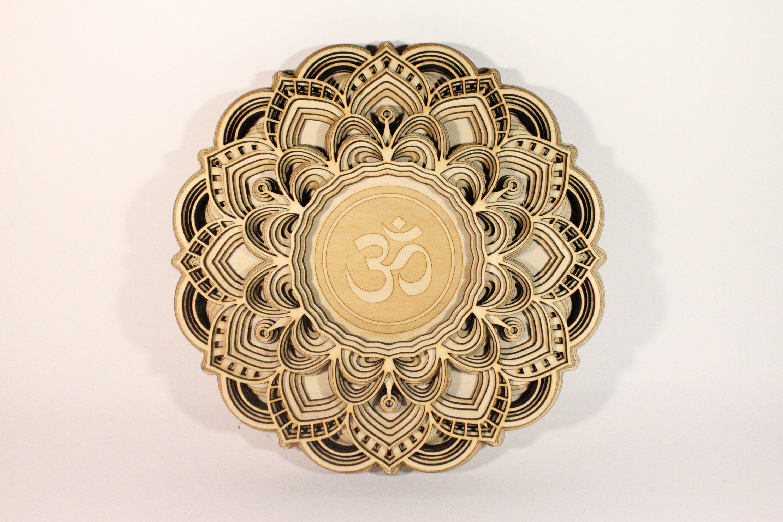 Koh-i-Noor Mandala Designer Wall Art Unique Wooden Mandala