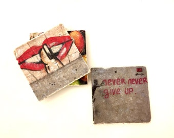 "Colour Coasters - 4x4"", Original Photograph by EyeWatch Photo, Urban Photography, Abandoned, Graffiti, Spray Paint, Art"