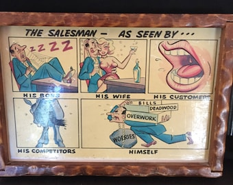 Vintage Framed Postcard
