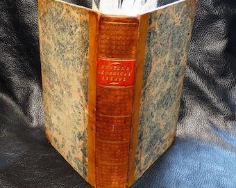 Rare Antiquarian Book Georgical Essays Volume 1 Leather Bound 1803