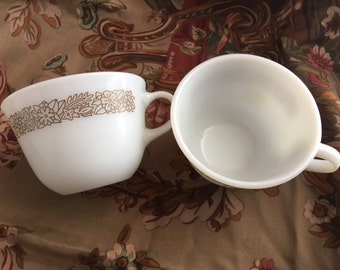 Vintage 1960's Pyrex Coffee Cups