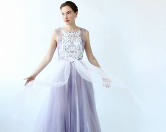 Purple wedding dress etsy versatile a line custom dye dusty purple wedding dress junglespirit Images