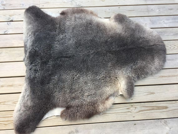 Exclusive sheepskin rug /pelt from rare Swedish Gute breed 17147