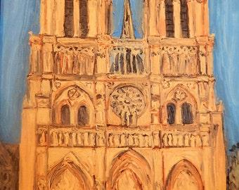 Notre Dame de Paris - Original Oil Painting