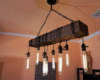 Rustic chandelier etsy large chandeliers wood chandelier rustic chandeliers industrial chandelier ceiling lights aloadofball Choice Image