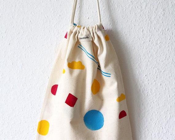 Bold Shapes // Block-printed Cotton Bread Bag