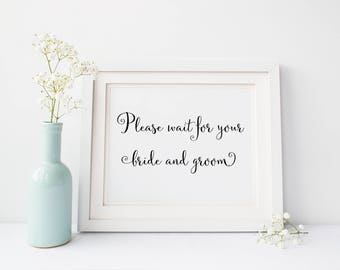 Bride and Groom sign, wedding decoration, Digital Download, wedding decor, wedding sign, wedding printable, bride sign, groom sign