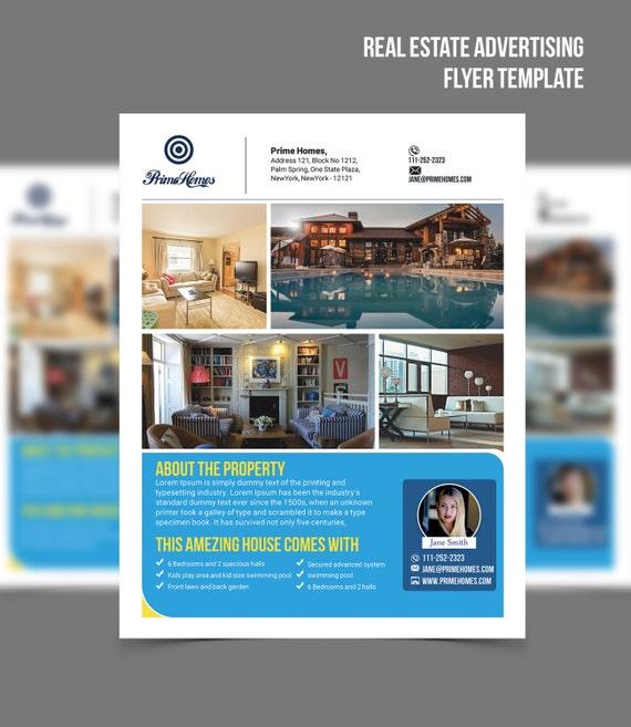 Immobilien Werbung Flyer Vorlage-editierbar in Microsoft Word