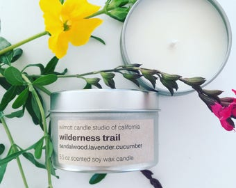 Wilderness Trail 5.5oz Scented Candle Tin