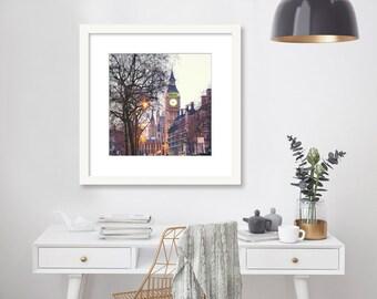 London Print, Big Ben, London Photography, London Art, Home Decor, Travel Decor, Wall Art