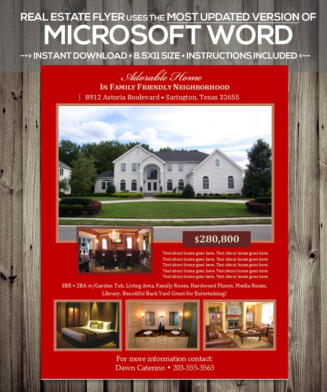 Immobilien FLYER Vorlage Microsoft Word .docx Version