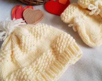 Infant Hat and Bootie Set