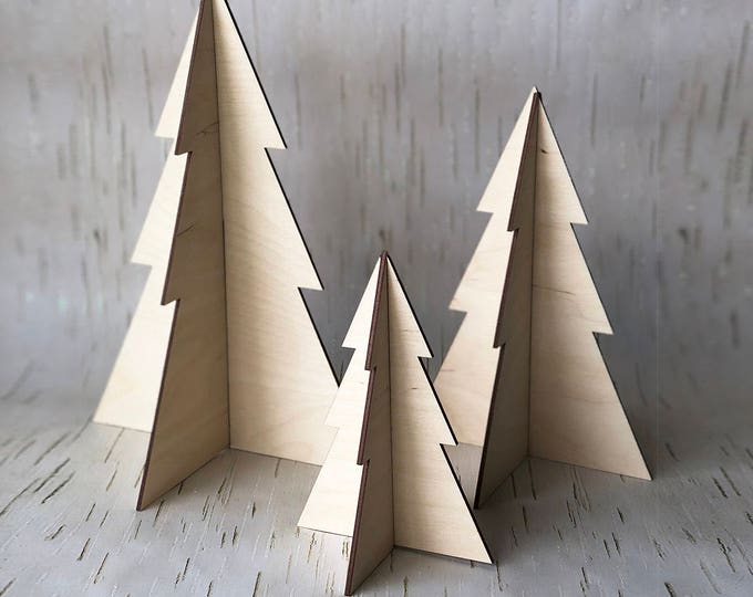 Modern 3D Tree Set - Acrylic or Wood