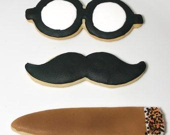 Dapper Gentleman Sugar Cookies