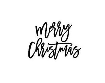 Merry Christmas Holiday Cursive Font Instant Download SVG PNG JPG