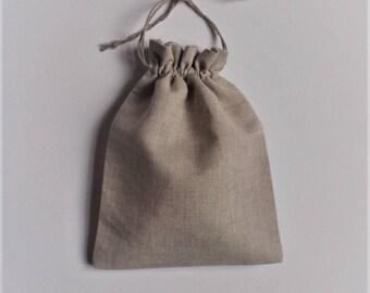 Natural Linen Bags * 20 pcs * Rustic Favor * Linen Gift Bags * Drawstring Pouches * 15cm x 20cm