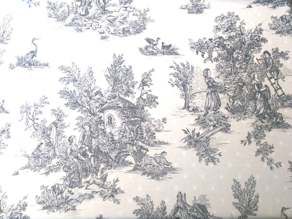 "coupon ""toile de jouy"" fabric"