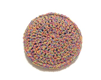 Twisted Melon Crocheted Cotton And Nylon Netting Dish Scrubbie- Large Flat