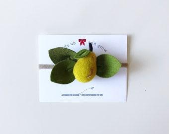 Pear Headband Felt Flowers, giddyupandgrow