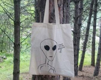Grateful Alien Totebag