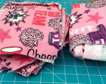 Cheerleading Flannel Fabric Scrap Bag