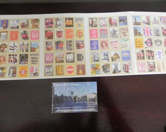 England 80 stickers: 4 sheets of stickers so stamps