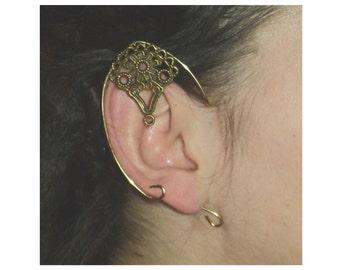 Arwen fae larp  pointy swirly arwen elven ear cuff LOTR elfish pointy ears