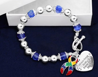 Autism Ribbon Bracelet - Where Love (RE-B-01-2)