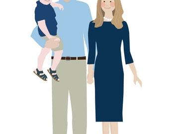 Custom Family Portrait - three people